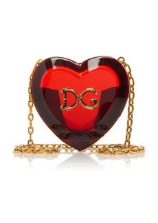 Dolce & Gabbana Heart-Shaped Translucent Acrylic Mini Bag