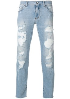 Dolce & Gabbana heavily distressed jeans - Blue