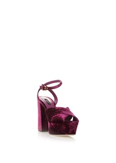 Dolce & Gabbana High Keira Velvet Sandals