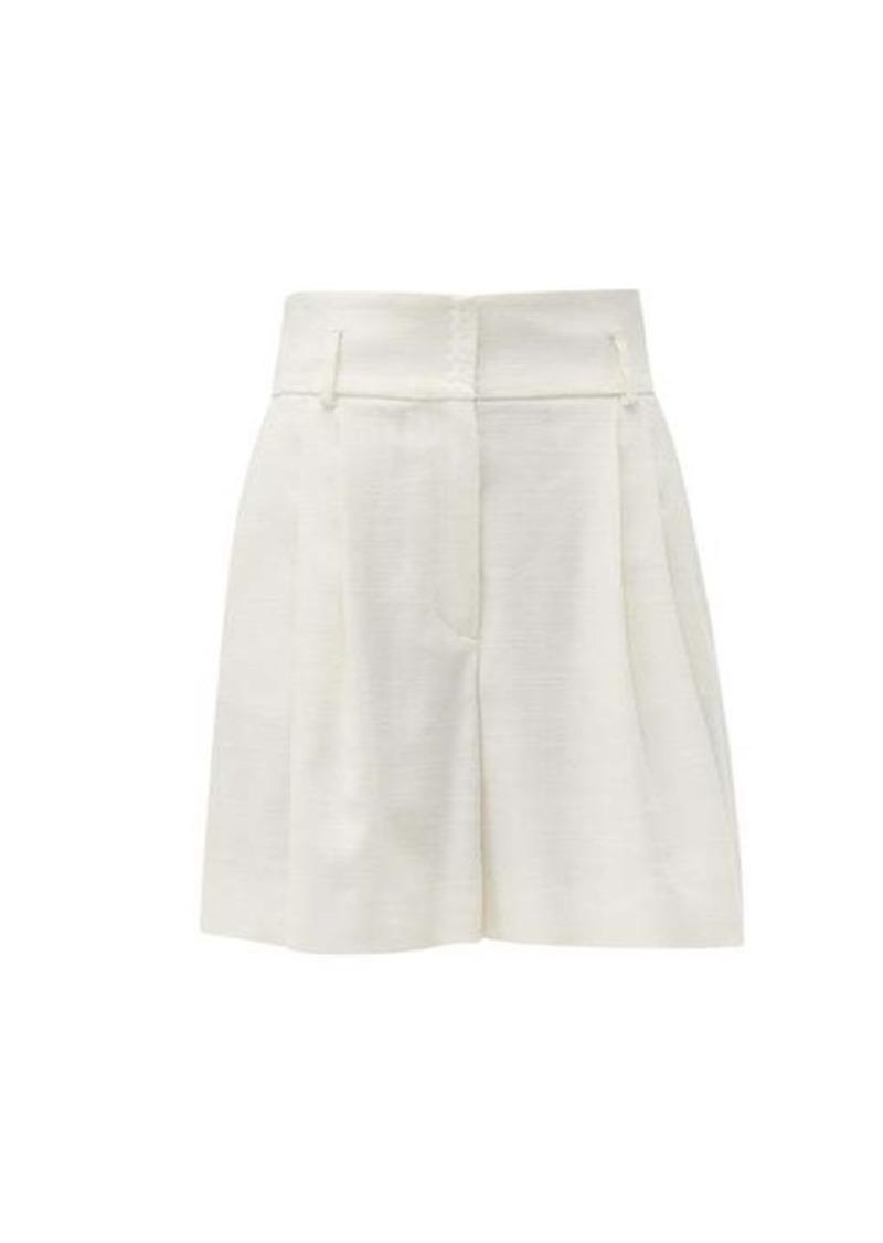 Dolce & Gabbana High-rise canvas shorts