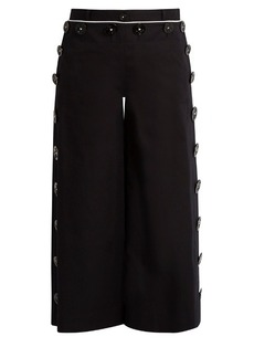 Dolce & Gabbana High-rise flared stretch-cotton culottes