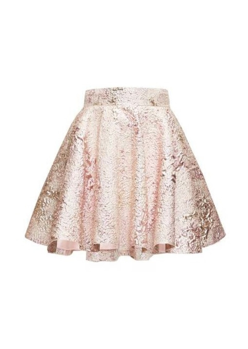 Dolce & Gabbana High-rise floral-jacquard lurex circle skirt