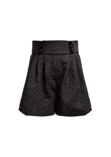 Dolce & Gabbana High-rise floral-jacquard shorts