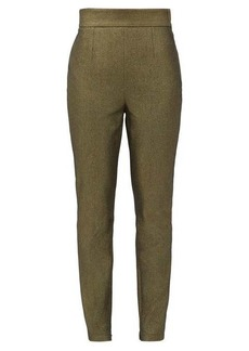 Dolce & Gabbana High-rise metallic cotton-blend trousers