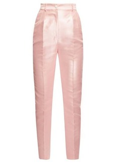 Dolce & Gabbana High-rise mikado slim-leg trousers