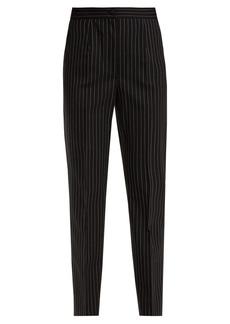 Dolce & Gabbana High-rise pinstriped wool-blend trousers