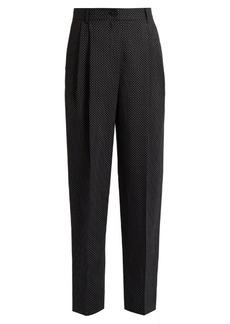 Dolce & Gabbana High-rise polka-dot print wool trousers