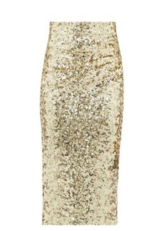 Dolce & Gabbana High-rise sequinned pencil skirt