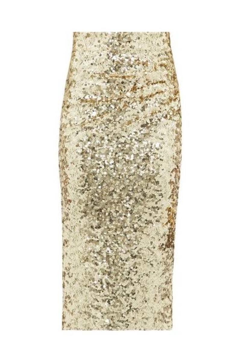 Dolce & Gabbana High-rise sequinned pencil skirt
