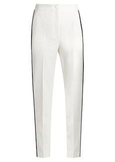 Dolce & Gabbana High-rise straight-leg wool-blend trousers