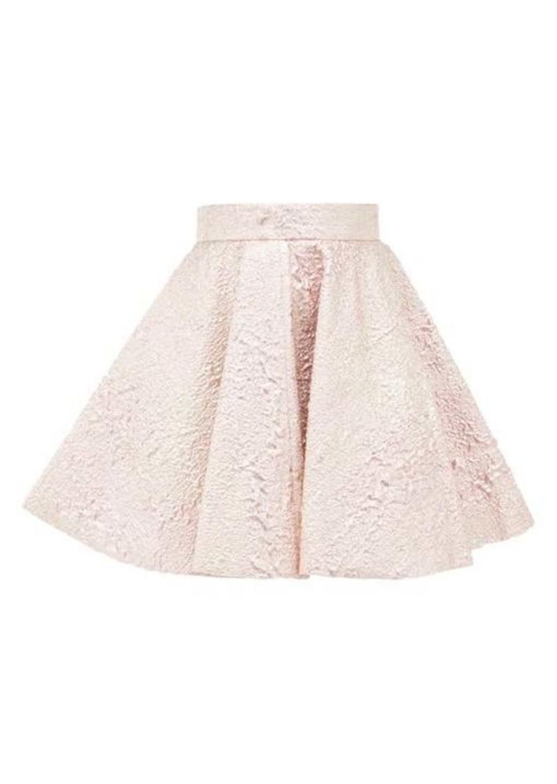 Dolce & Gabbana High-rise textured metallic mini skirt