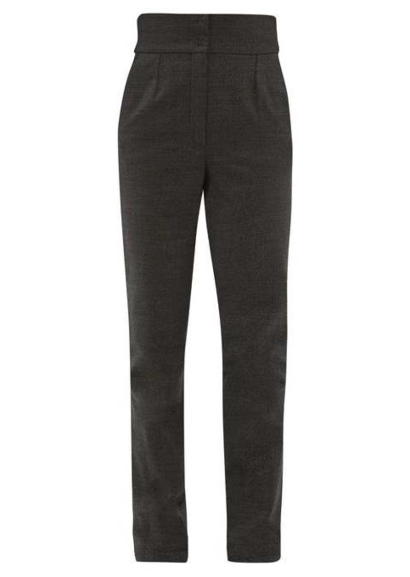 Dolce & Gabbana High-rise tweed trousers
