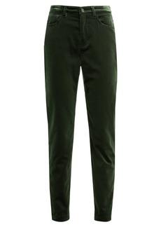 Dolce & Gabbana High-rise velvet jeans