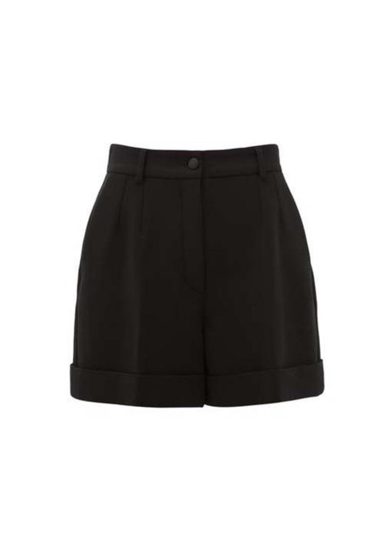 Dolce & Gabbana High-rise virgin wool-blend crépe shorts