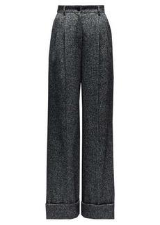 Dolce & Gabbana High-rise wide-leg wool-blend trousers