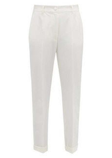 Dolce & Gabbana High-rise wool-blend crepe trousers