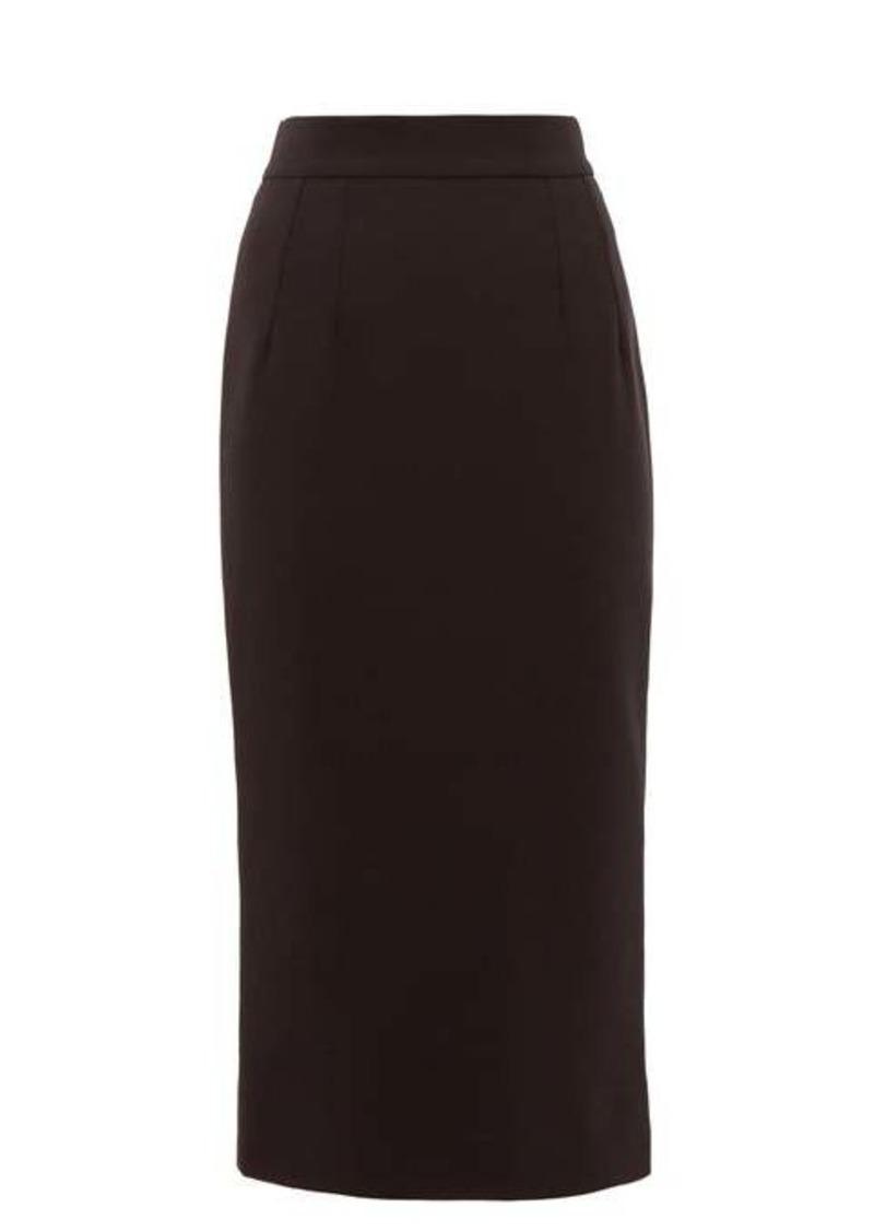 Dolce & Gabbana High-rise wool-blend pencil skirt