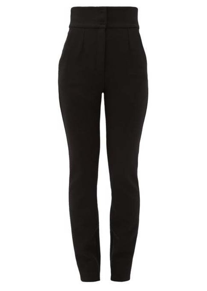 Dolce & Gabbana High-rise zipped cuff wool-blend trousers