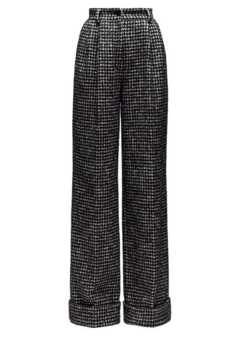 Dolce & Gabbana Houndstooth wide-leg trousers