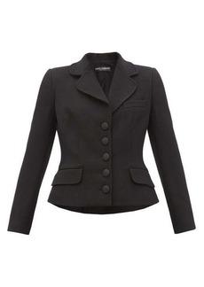 Dolce & Gabbana Hourglass padded grain-de-poudre suit jacket