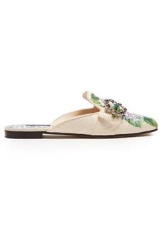 Dolce & Gabbana Hydrangea-brocade backless slides