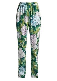 Dolce & Gabbana Hydrangea-print charmeuse pyjama trousers