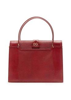 Dolce & Gabbana Ingrid medium lizard-effect leather bag