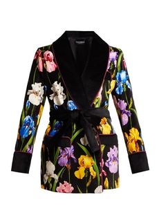 Dolce & Gabbana Iris-print cotton-blend jacket