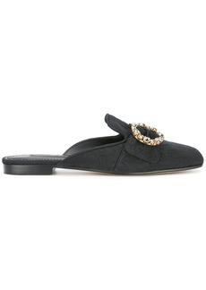 Dolce & Gabbana Jackie brocade flat mules - Black
