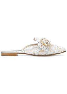 Dolce & Gabbana Jackie flat mules - White