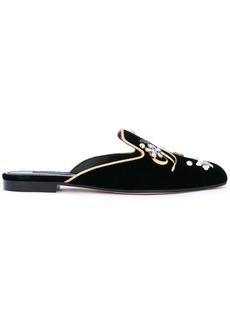 Dolce & Gabbana Jackie velvet mules - Black