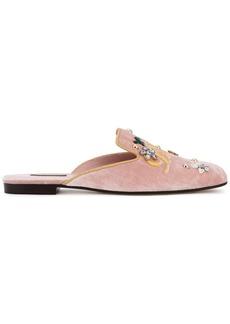 Dolce & Gabbana Jackie velvet mules - Pink & Purple
