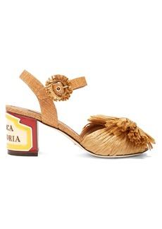 Dolce & Gabbana Keira ceramic-heel raffia sandals
