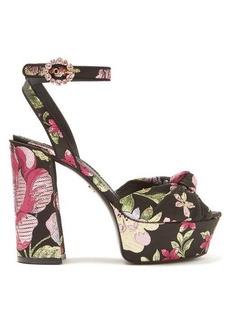Dolce & Gabbana Keira floral-brocade platform sandals