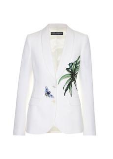 Dolce & Gabbana Kenzia leaf-appliqué single-breasted jacket