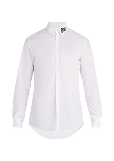 Dolce & Gabbana King-appliqué cotton shirt