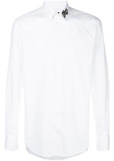Dolce & Gabbana King patch collar shirt - White