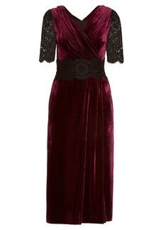Dolce & Gabbana Lace and velvet midi dress