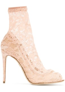 Dolce & Gabbana lace ankle boots - Nude & Neutrals