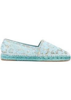 Dolce & Gabbana lace espadrilles - Blue