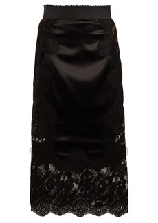 Dolce & Gabbana Ruched lace pencil skirt