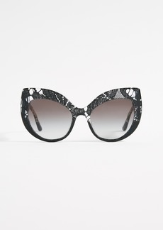Dolce & Gabbana Lace Ortensia Extreme Cat Sunglasses