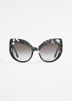 Dolce & Gabbana Lace Ortensia Extreme Cat Sunglasses