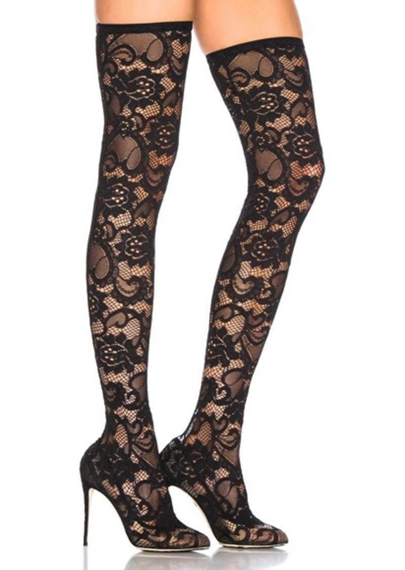 Dolce & Gabbana Lace Thigh High Boots