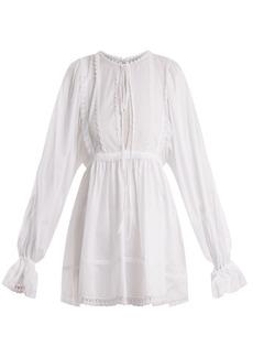 Dolce & Gabbana Lace-trimmed cotton-blend mousseline top