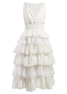 Dolce & Gabbana Lace-trimmed tiered dress