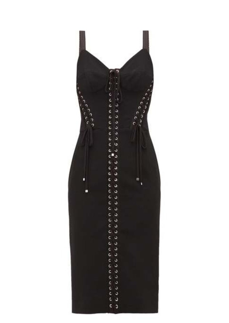 Dolce & Gabbana Lace-up corset dress