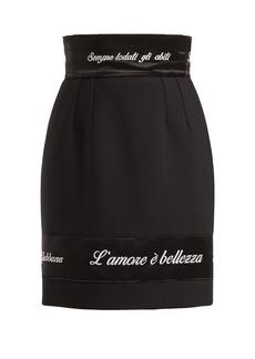 Dolce & Gabbana L'amore è Bellezza appliquéd skirt