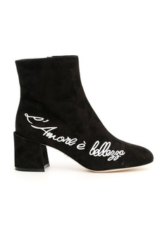Dolce & Gabbana Lamore è Bellezza Suede Vally Boots