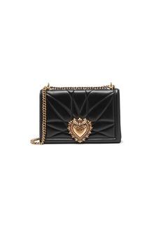 Dolce & Gabbana Large Devotion Leather Shoulder Bag